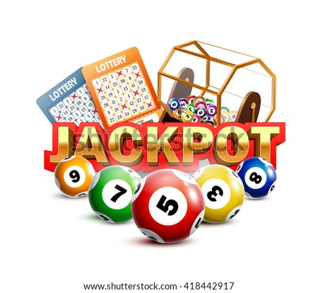 Lotto ticket stock images royalty free images vectors lottery jackpot with tickets wheel and balls sciox Images