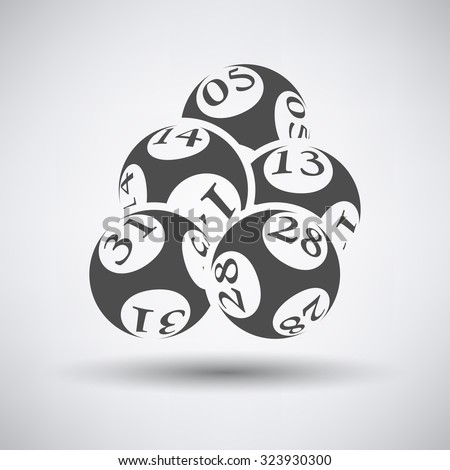 Lotto balls icon over grey background. Vector illustration. - stock vector