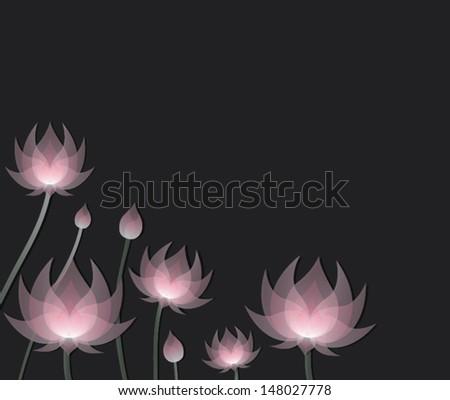 Lotus - stock vector