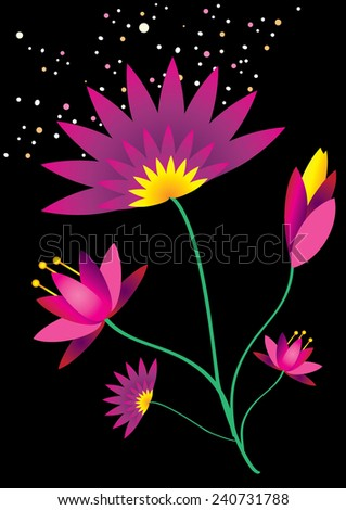 Lotus Background (vector) - stock vector