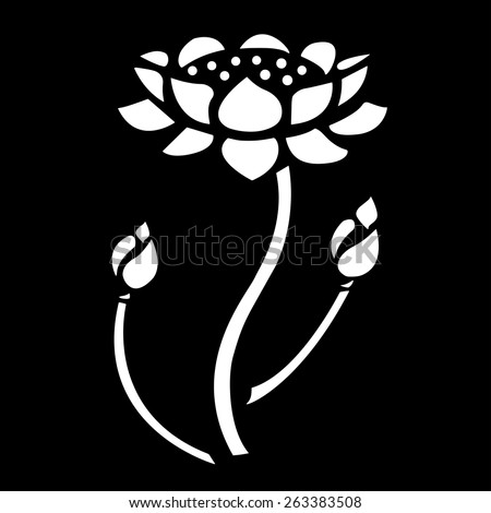 Lotus Bud and Lotus Blooming Vector. - stock vector