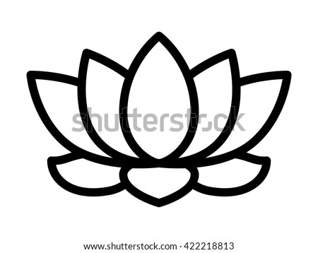 Lotus flower blossom line art icon stock vector 422218813 shutterstock lotus flower blossom line art icon for apps and websites mightylinksfo Images