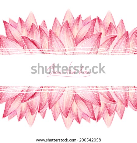Lotus flower design - stock vector