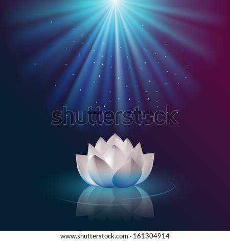 Lotus flower, eps10 vector - stock vector