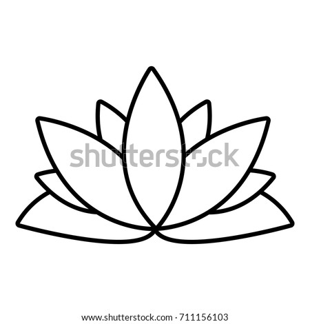 Lotus flower icon outline illustration lotus stock vector 711156103 lotus flower icon outline illustration of lotus flower vector icon for web design isolated on mightylinksfo