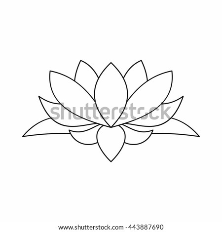 Lotus flower outline icon illustration lotus stock vector 443887690 lotus flower outline icon illustration of lotus flower outline logo vector isolated on white background mightylinksfo