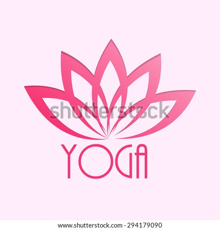 Lotus Flower Sign for Wellness, Spa and Yoga. Vector Illustration - stock vector