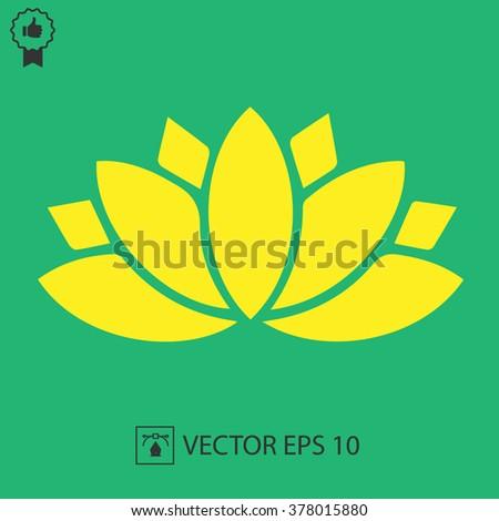 Lotus flower vector icon spiritual simple stock vector 378015880 lotus flower vector icon spiritual simple silhouette symbol mightylinksfo