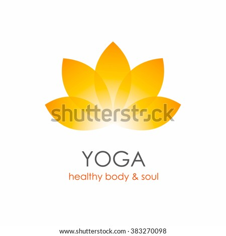 Lotus Flower Yoga symbol template. Logo design idea - stock vector