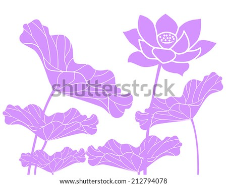 Lotus Flowers - stock vector