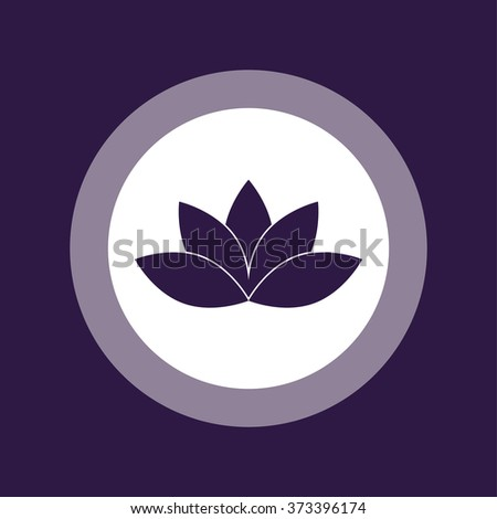 Lotus Icon . Vector illustration