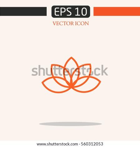 lotus logo nature. organic emblem.logo design.graphic image.simple icon for web.