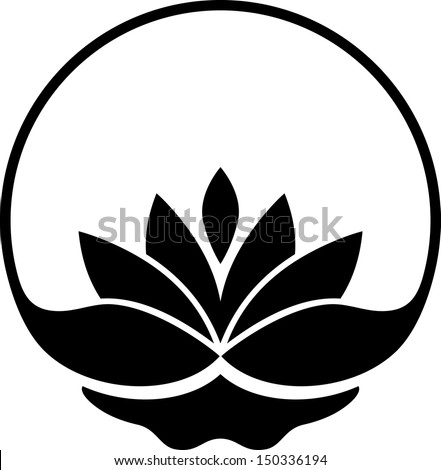 Lotus symbol - stock vector