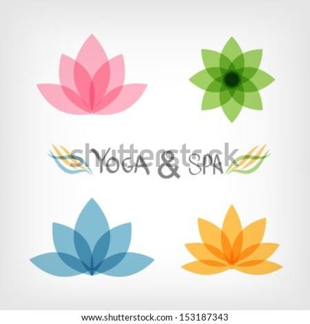 Lotus symbol.Yoga & Spa