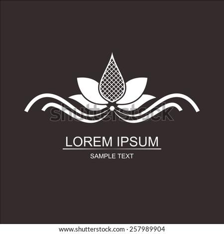 Lotus symbol. Yoga & Spa - stock vector