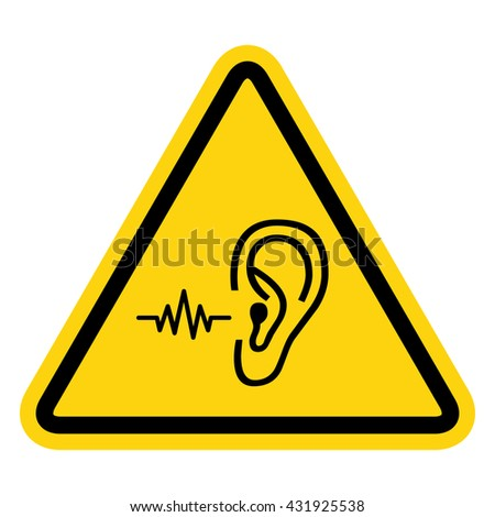 Loud noise hazard symbol . Vector illustration - stock vector