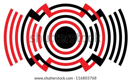 loud sound   alarm symbol - stock vector