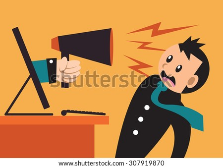 Loud Speaker - stock vector