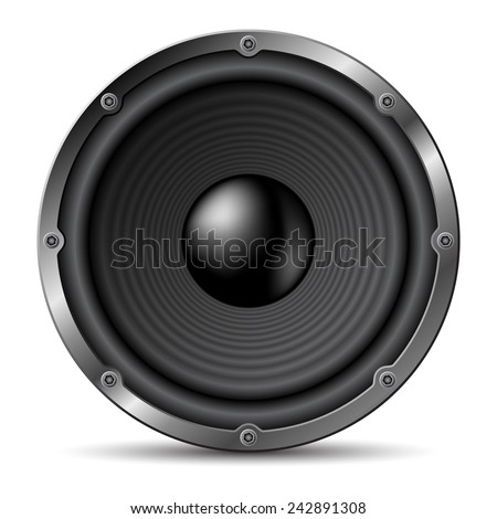 Loudspeaker on white background. - stock vector