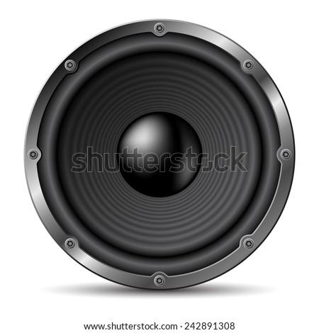 Loudspeaker on white background. - stock vector
