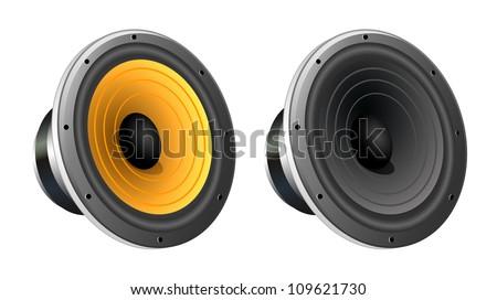 Loudspeaker vector - stock vector