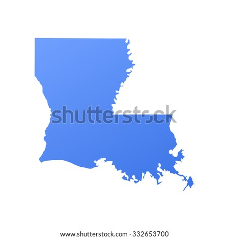 Louisiana State Bordermap Stock Vector Shutterstock - Lousiana state map