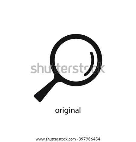 loupe - stock vector