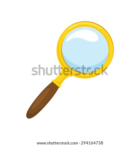 Loupe. Isolated icon pictogram.  - stock vector
