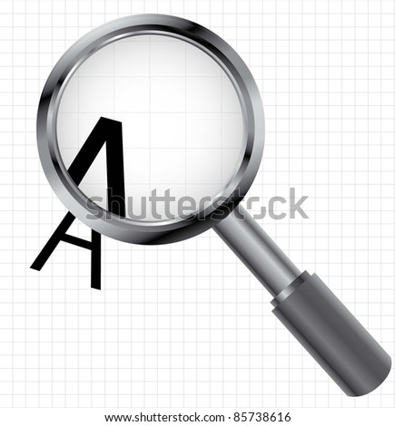 loupe magnifying objects (magnifying glass lens vector image)