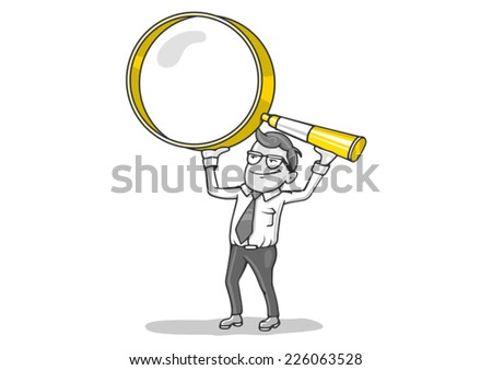 loupe searching - stock vector