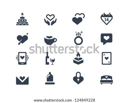 Love and couple icons - stock vector