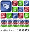 Love and dating button set - stock vector