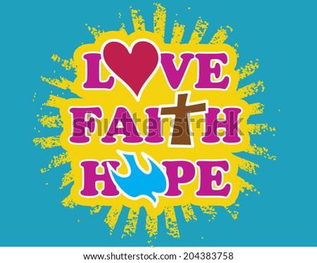 love and faith - stock vector