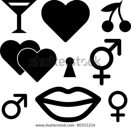 Love Sex Emblems Sexy Erotic Symbols Stock Photo Photo Vector