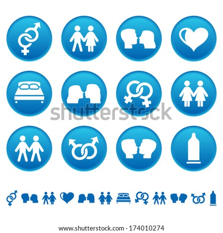 Love and sex icons - stock vector