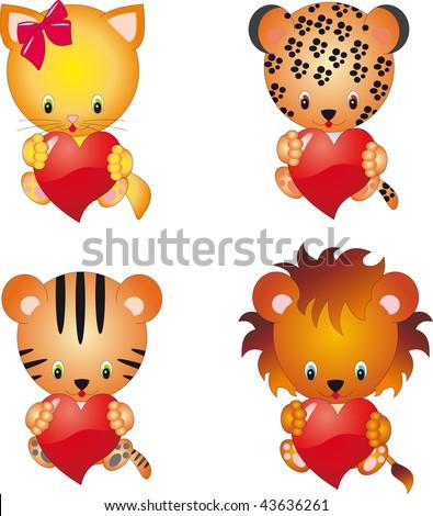 Love animals vector - stock vector