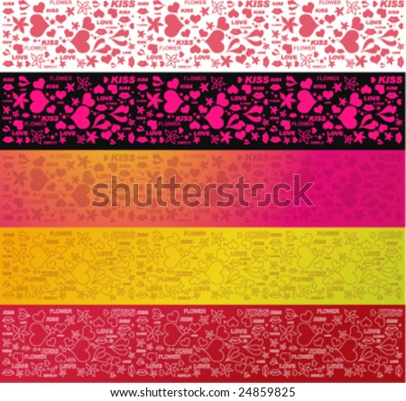 Love background for valentines, packages etc. - stock vector
