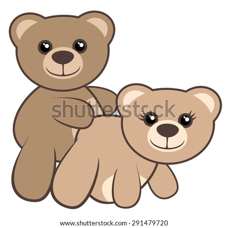 love bears stock vector 291479720 shutterstock rh shutterstock com pictures of fictional bears pictures of cartoon panda bears
