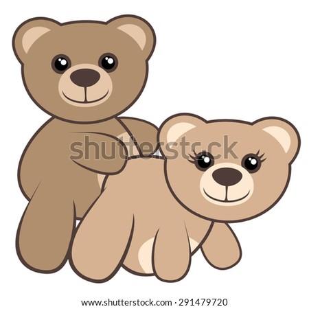 love bears stock vector 291479720 shutterstock rh shutterstock com cartoon panda bear images bear cartoon images black and white