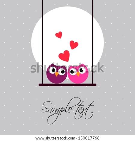 love birds - stock vector