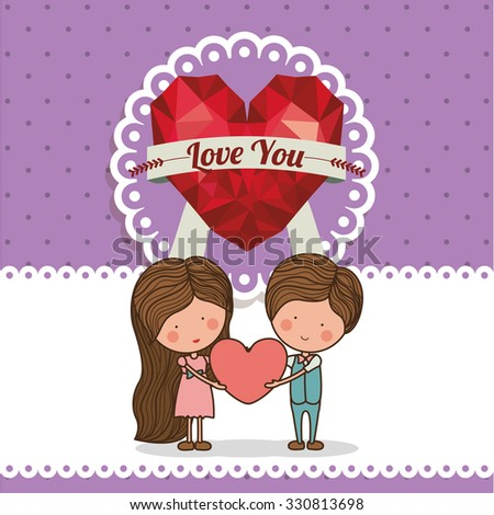 love card design, vector illustration eps10 graphic
