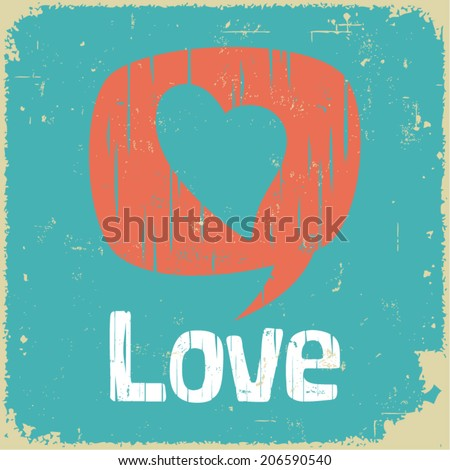 Love communication in retro style - stock vector