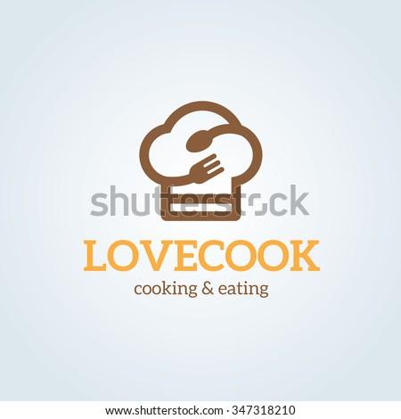 Love Cooking Logo,vector Logo template - stock vector