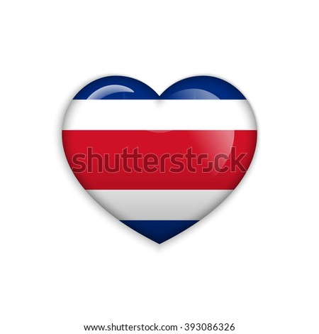 Love Costa Rica Symbol Heart Flag Stock Vector Hd Royalty Free