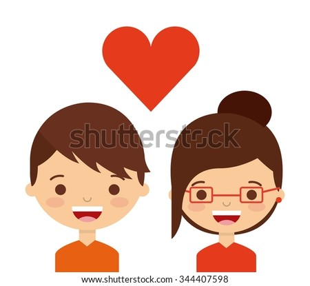 love couple design, vector illustration eps10 graphic