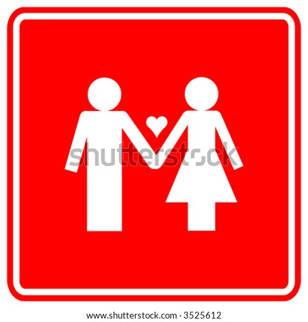 love couple red sign