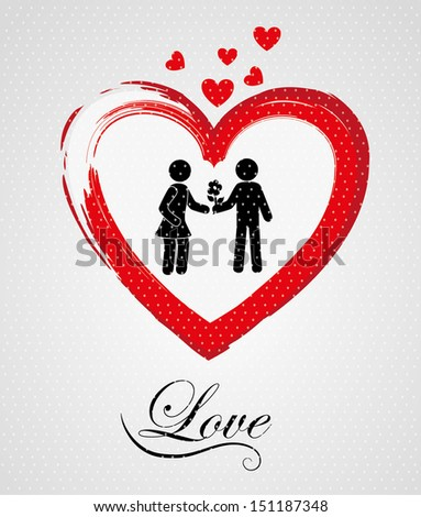 love design  over gray background vector illustration  - stock vector