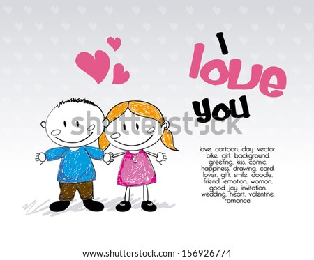 love design over gray background vector illustration - stock vector