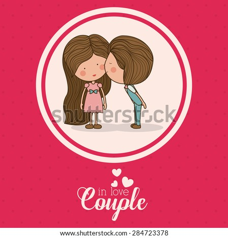 Love design over pink background, vector illustration