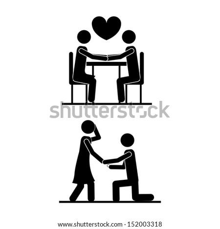 love design over white background vector illustration  - stock vector
